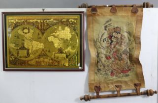 Various items of decorative china, pottery, metalware, etc.