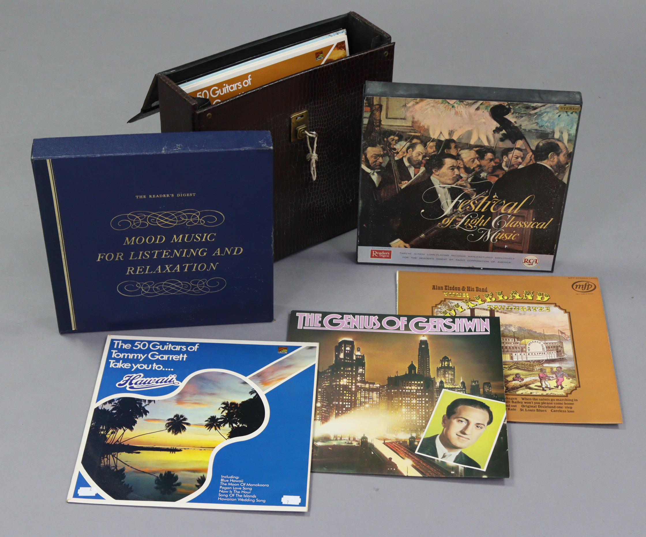 Approximately eighty various records – pop, classical, etc.