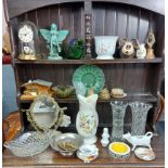 Various items of decorative china, pottery, glassware, etc.
