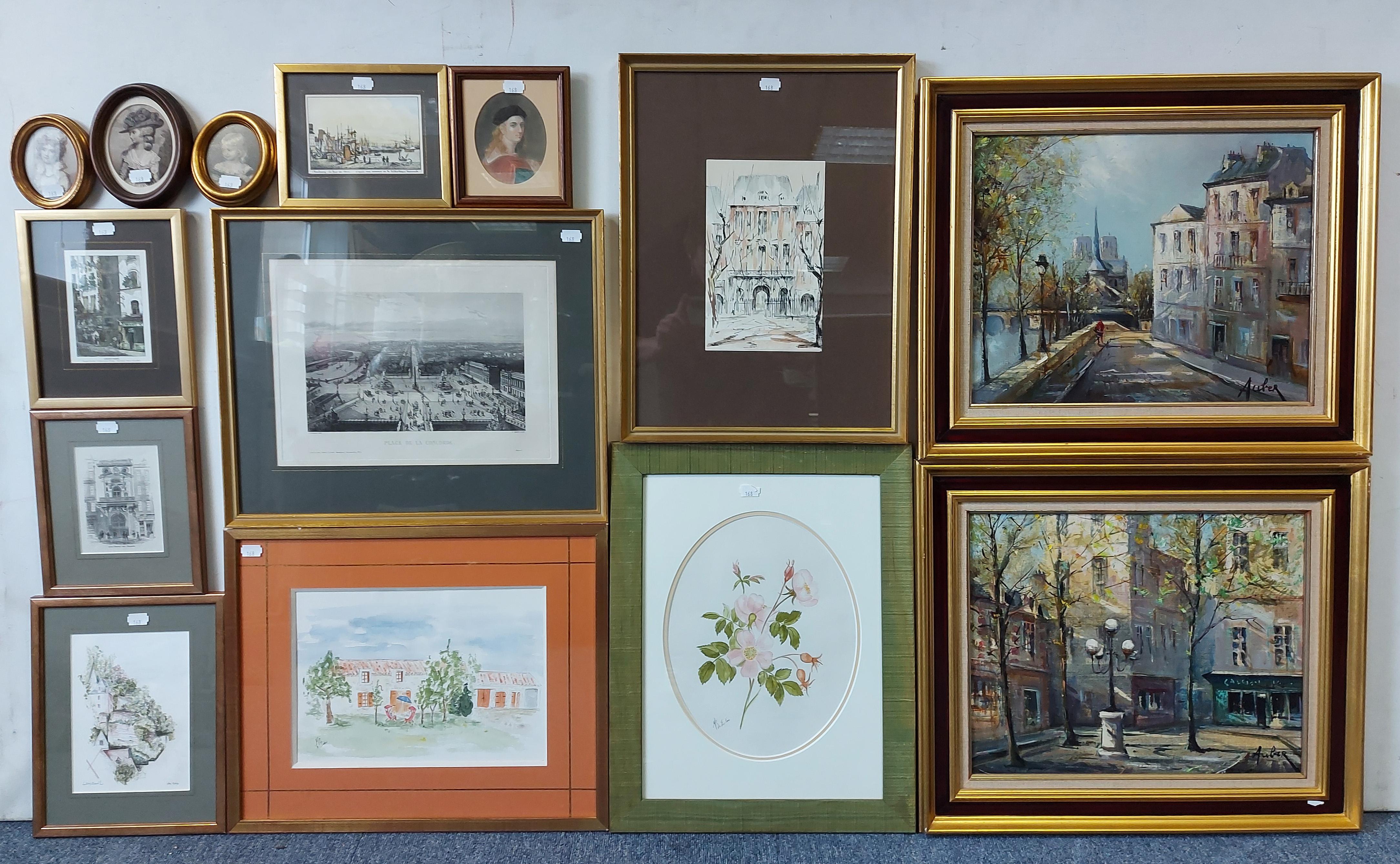 Various decorative paintings & prints.