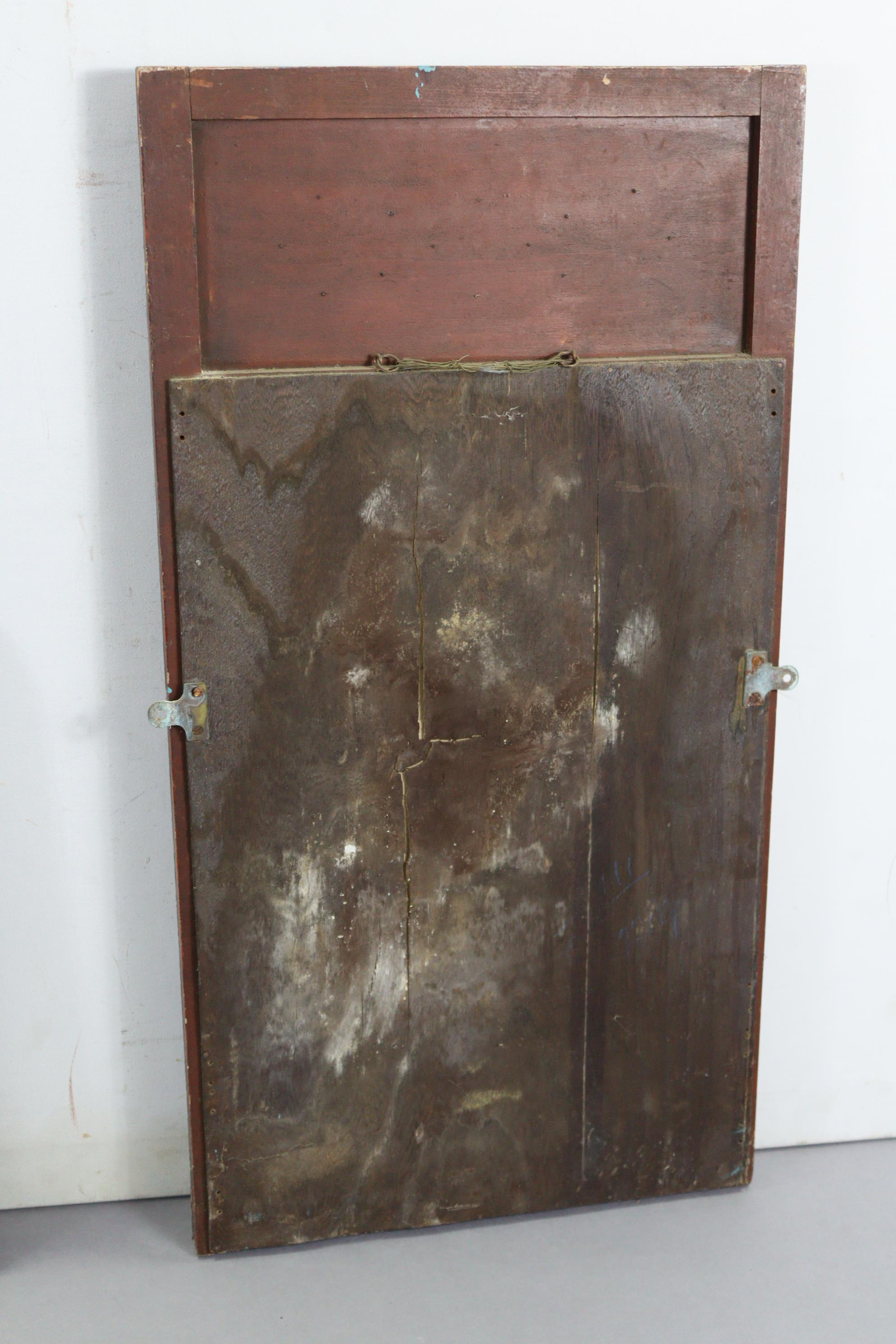 """A continental-style gilt frame pier glass, 31"""" x 16""""; together with two rectangular wall mirrors. - Image 4 of 10"""