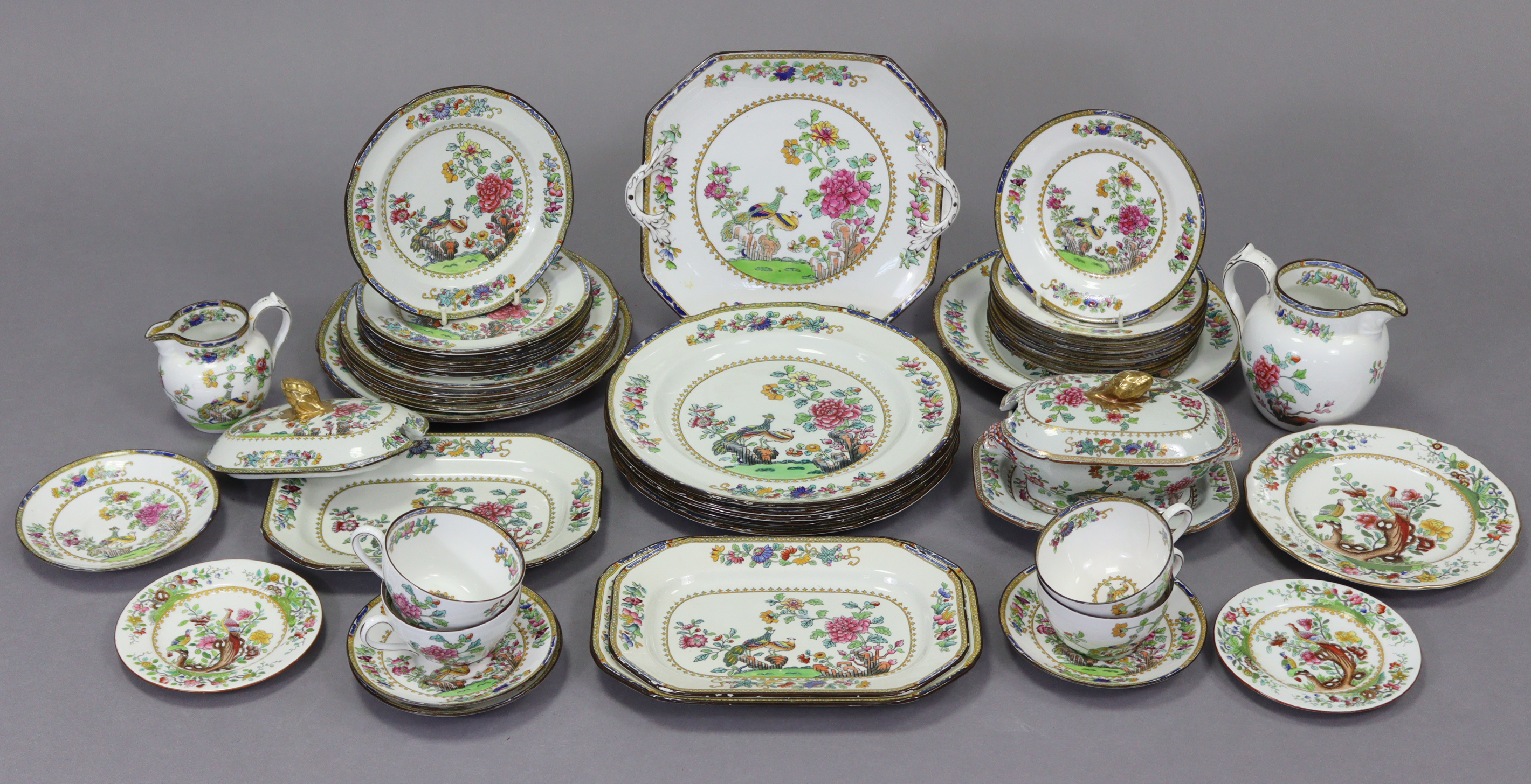 """A Copeland Spode's """"Indian Tree"""" pattern forty-four piece part dinner & tea service."""