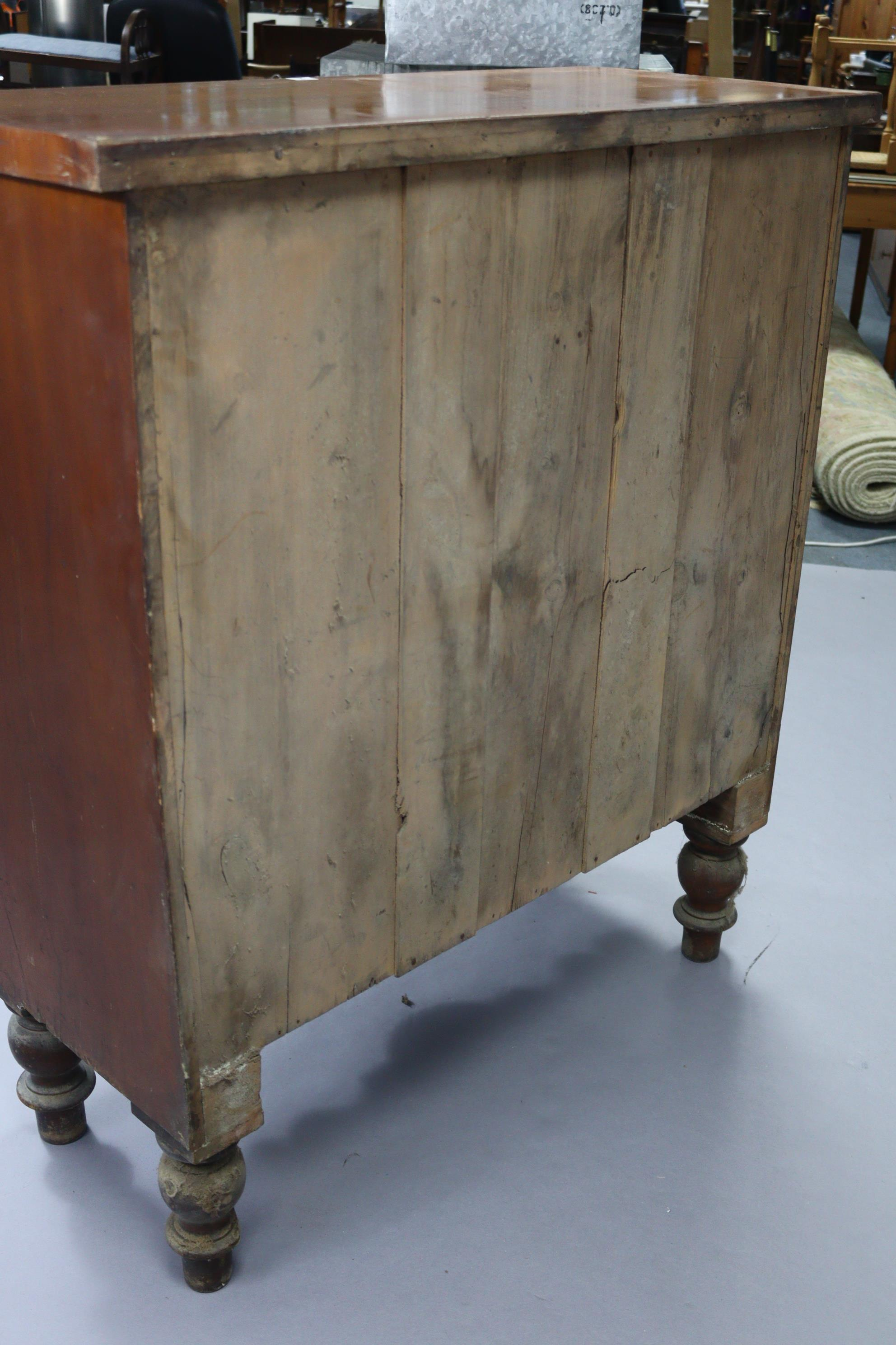 A late Victorian walnut chest fitted two short & three long graduated drawers, with shaped - Image 10 of 10