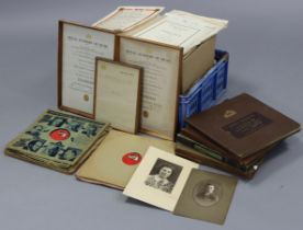 Various records; together with a small quantity of sheet music.
