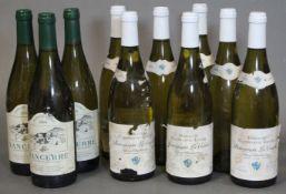 Seven bottles of Bourgogne La Combe 2011 vintage Cepage Chardonnay, Domaine Maroslavac Leger; &
