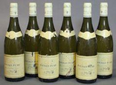 Six bottles of Pouilly-Fume 2003 vintage white wine, Pierre Marchand et Fils (6 x 750ml).