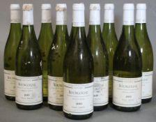Ten bottles of Didier Tripoz Bourgogne Vieilles Vignes 2003 vintage white wine (10 x 750ml).