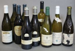 Two bottles of Pierre Vessigaud 2003 Pouilly-Fuisse Cru de Bourgogne white wine; together with eight
