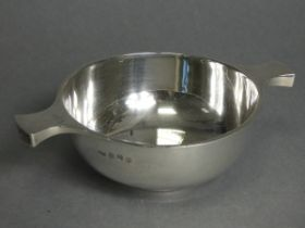 "A Scottish George V silver quaich of plain conventional form, on rim foot, 5?"" diam. (6¾"" across"