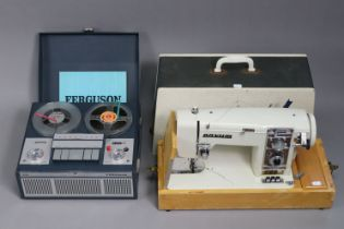 """A Ferguson """"3224"""" reel-to-reel portable tape recorder, & a Novum Zig Zag deluxe electric sewing"""