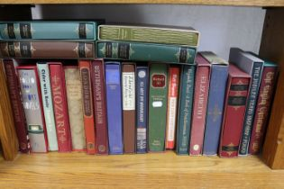 Forty-six various folio society books (most with covers).