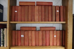 """A set of late 19th century Gadshill Edition volumes """"The Works of Charles Dickens"""", (thirty-six"""