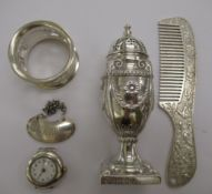 Silver and silver coloured metal items, viz.