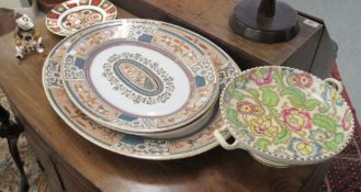 Ceramics: to include a Royal Crown Derby china paperweight, decorated in the Imari palette,