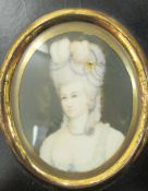 A 19thC portrait miniature, reputed to be The Marchioness of Hastings 2.