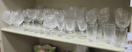 Royal Doulton and other crystal drinking glasses: to include tumblers,
