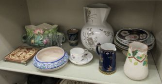 Decorative and domestic ceramics: to include a Stephen Folch stoneware oval dish,