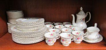 Royal Albert china Jubilee Rose pattern tea/dinner service SR