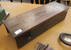 A late 19thC Nicol Freres Geneva music box, the mechanical movement incorporating a 13''L drum,