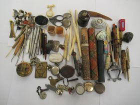 Collectable items: to include needlework related accessories and glove stretchers OS8