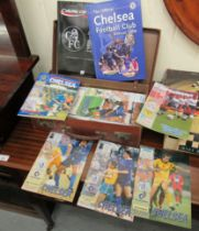 An uncollated collection of Chelsea FC programmes from the 1970s to the 1990s,