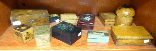 Trinket boxes: to include a laminated oval example,
