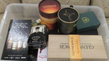 Promotional loose and boxed set whisky: to include 'Glenmorangie Single Highland Malt';