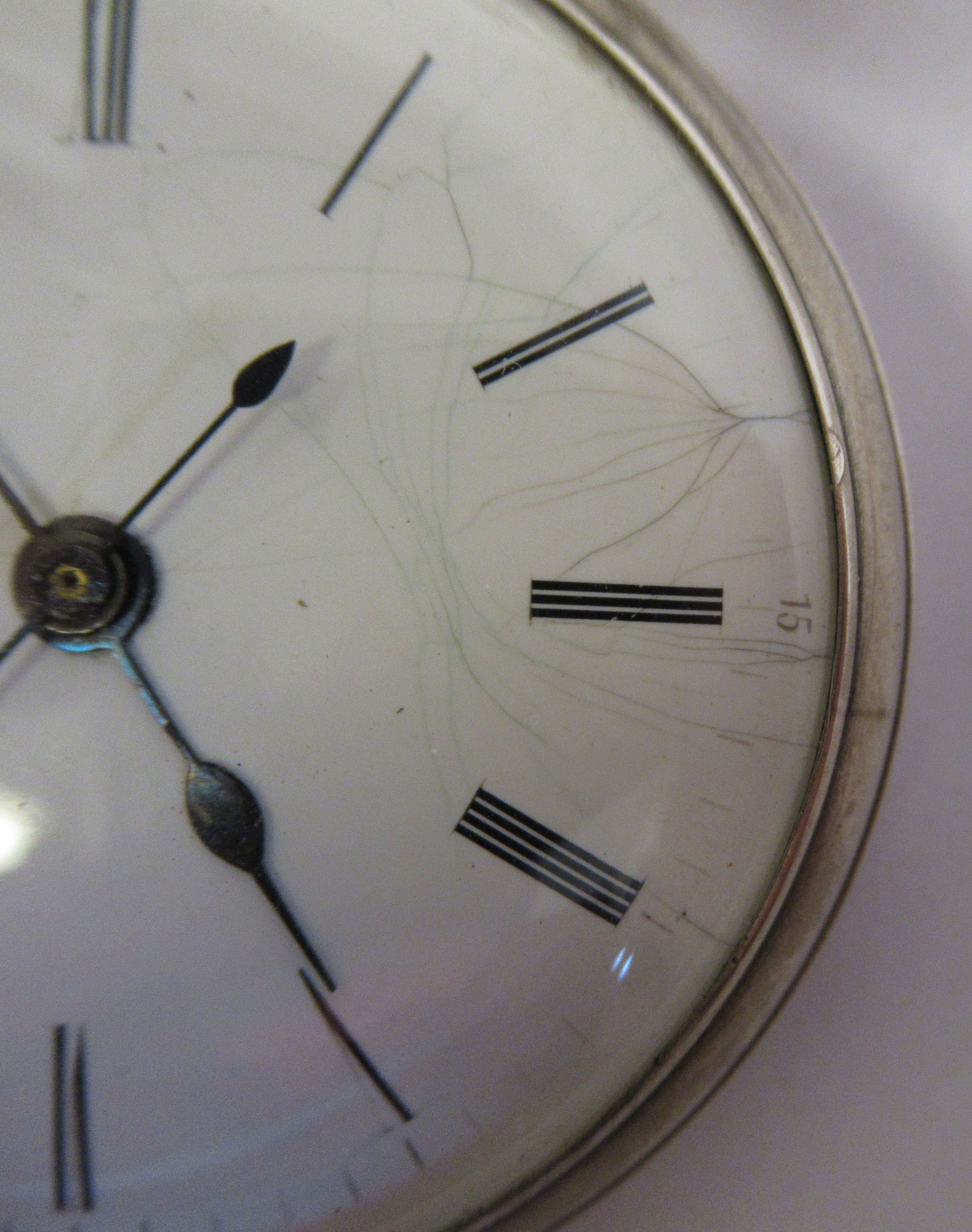 A 19thC silver cased pocket watch, the jewelled movement with sweeping seconds, protected by a - Image 2 of 4