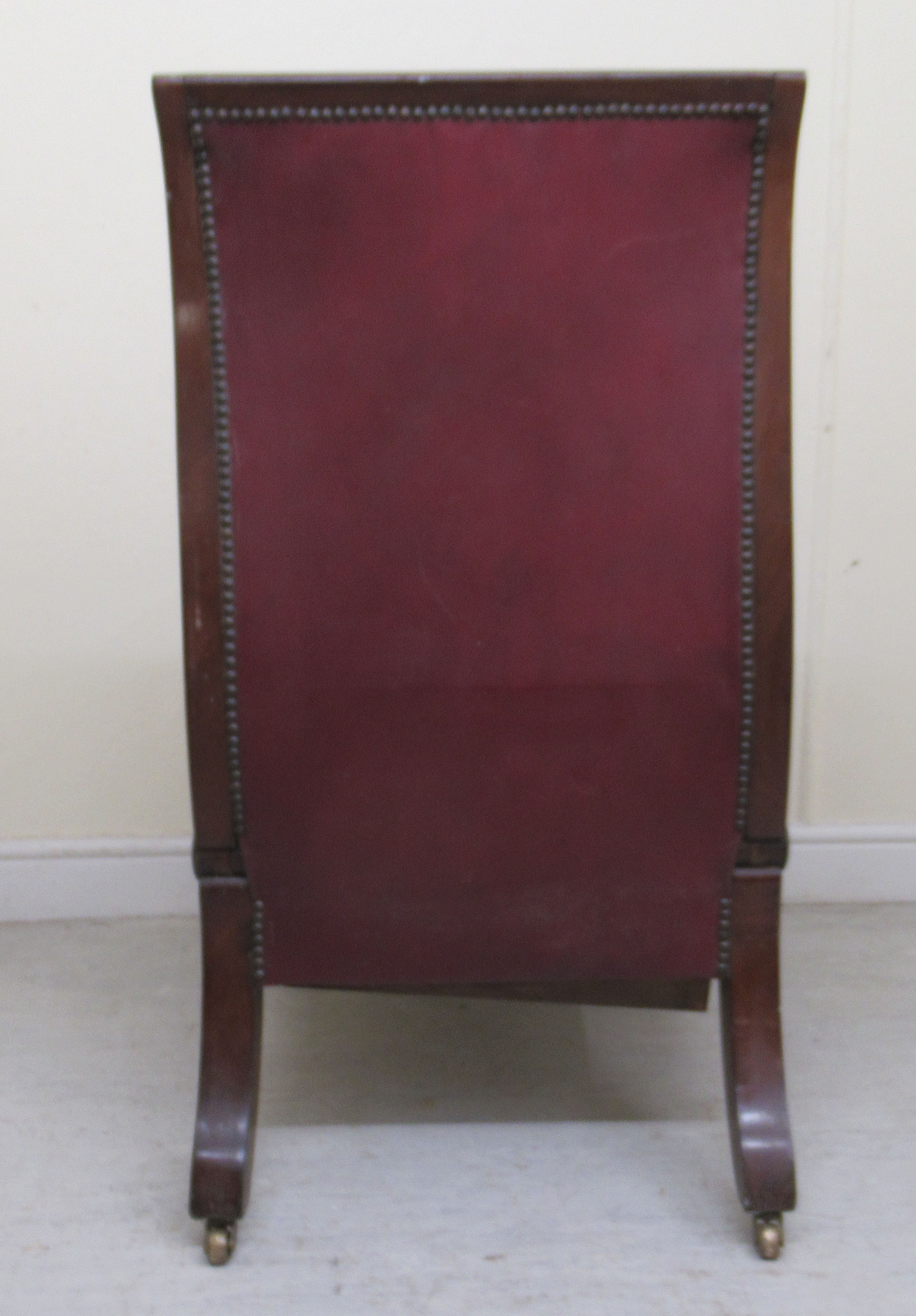 A William IV mahogany framed reclining library chair, the Daws Patent action having a height - Image 4 of 12