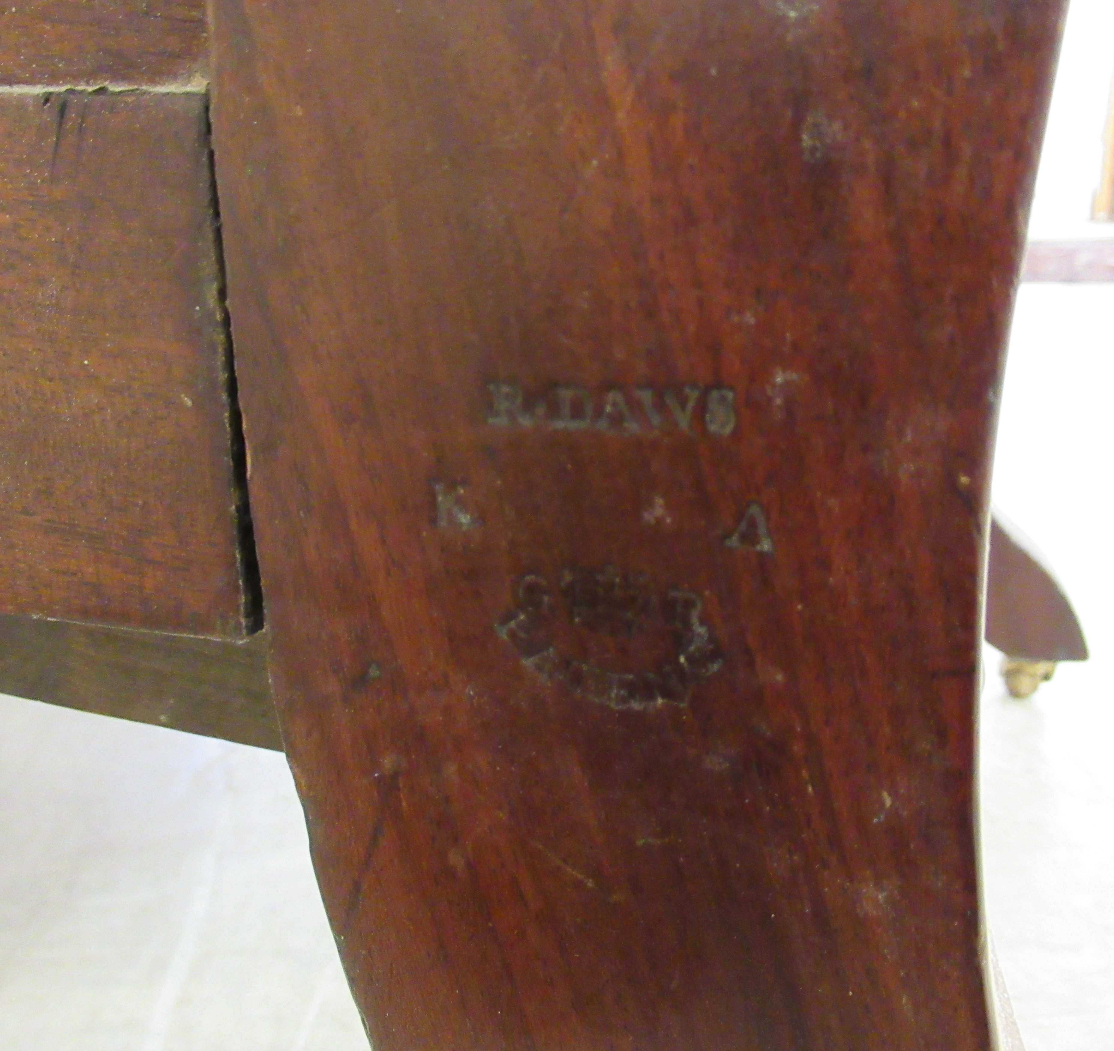 A William IV mahogany framed reclining library chair, the Daws Patent action having a height - Image 12 of 12
