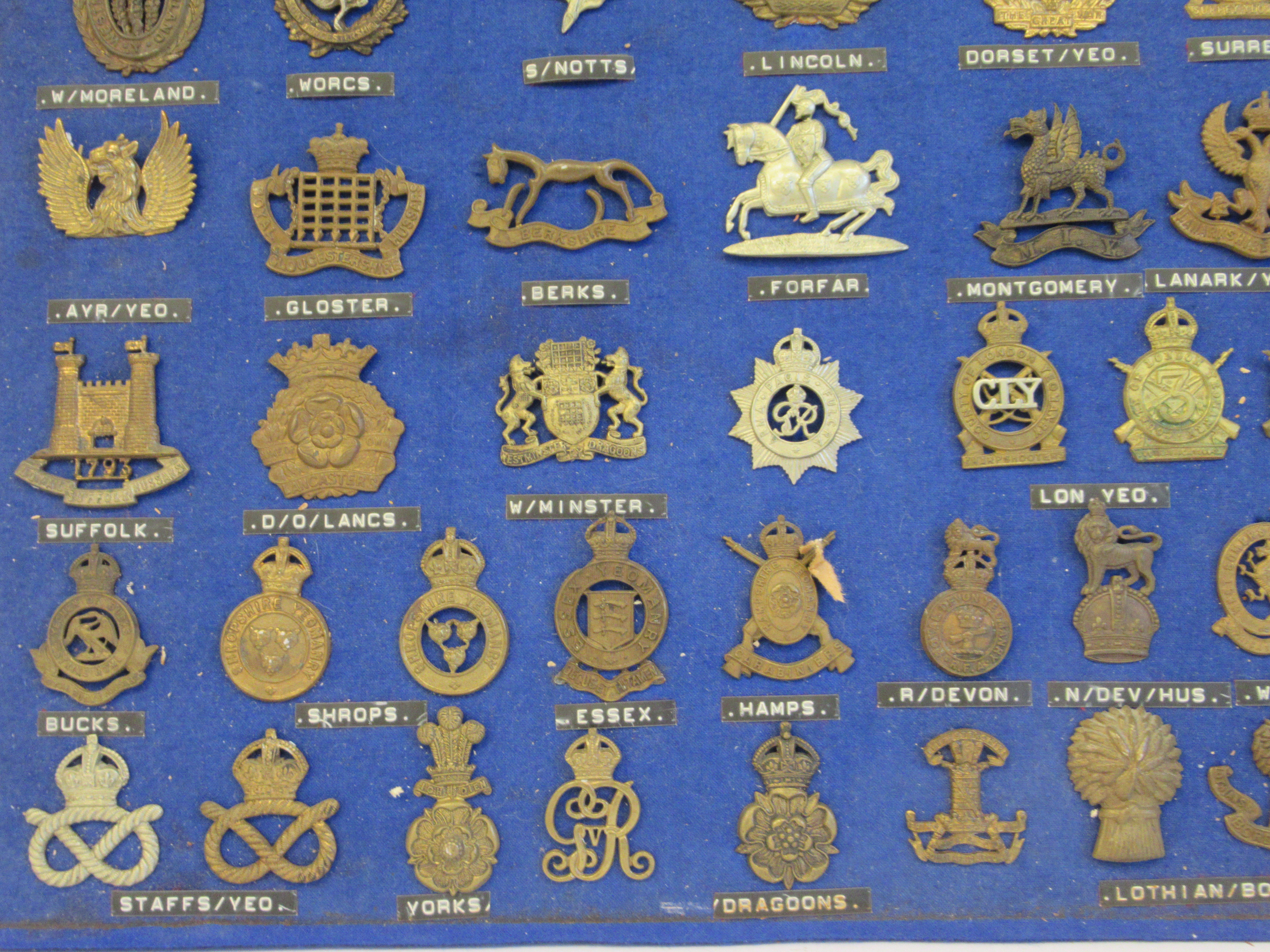 Approx. fifty military cap badges and other insignia, some copies: to include The Lancashire - Image 3 of 6