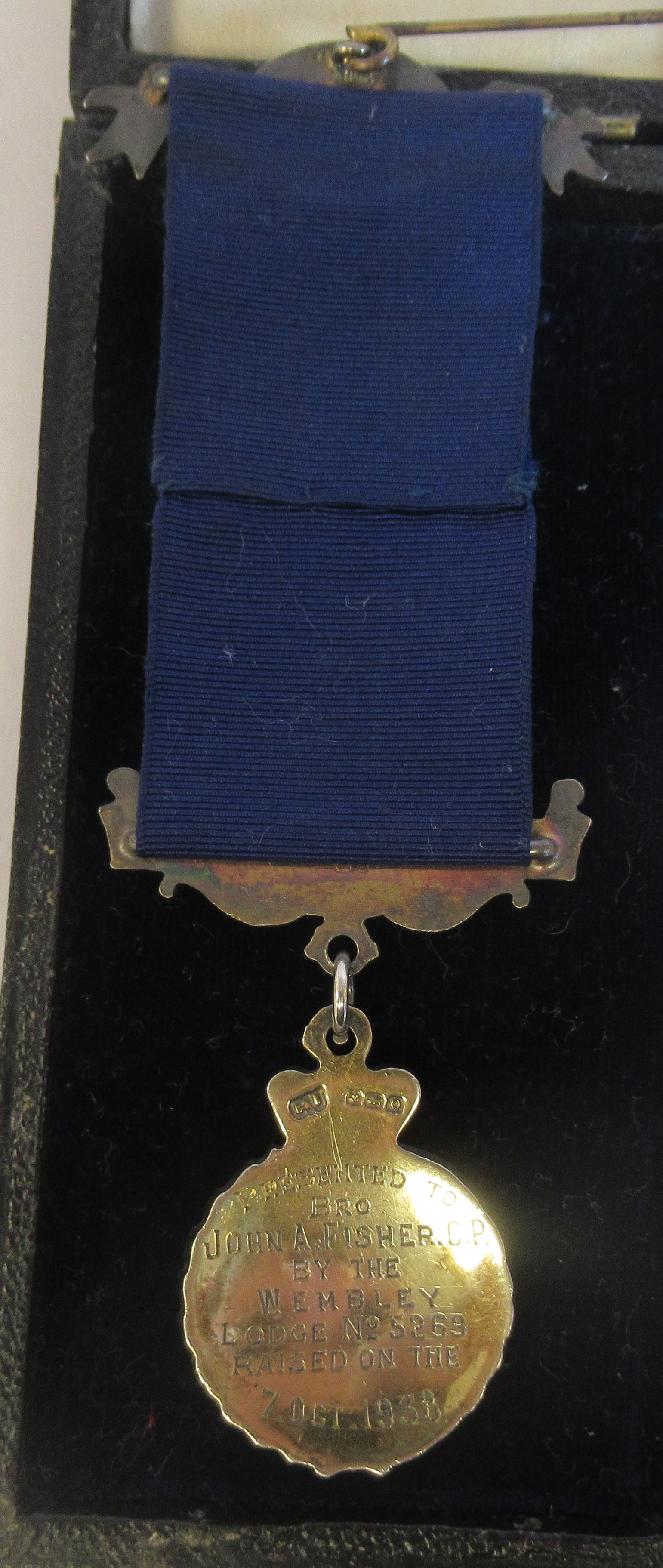 Three silver and coloured enamel Masonic medals, on ribbons mixed marks cased - Image 4 of 9
