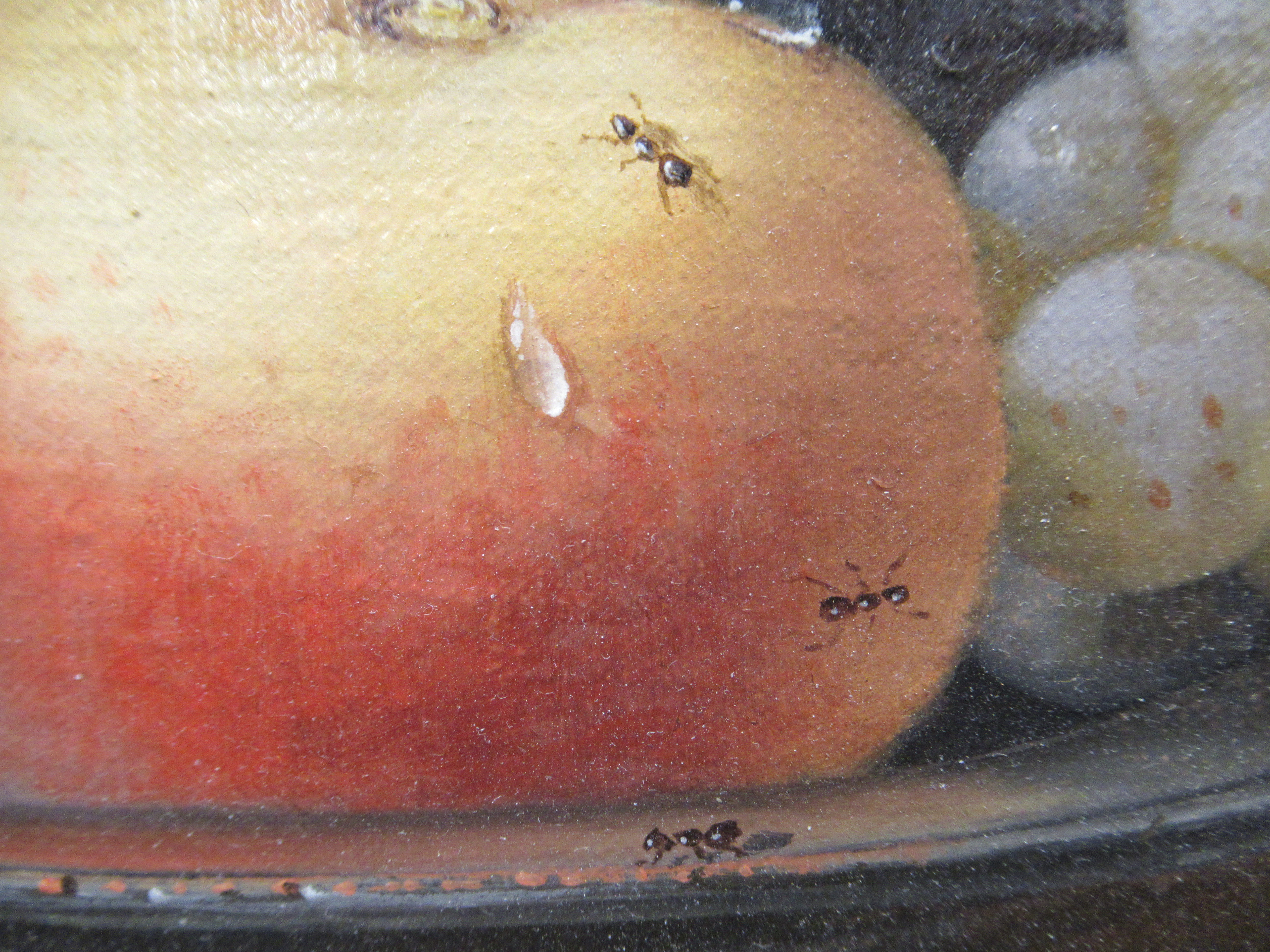 Brain Davies - a still life study, soft fruit in a dish, beside a jug, on a table by an open window - Image 3 of 6