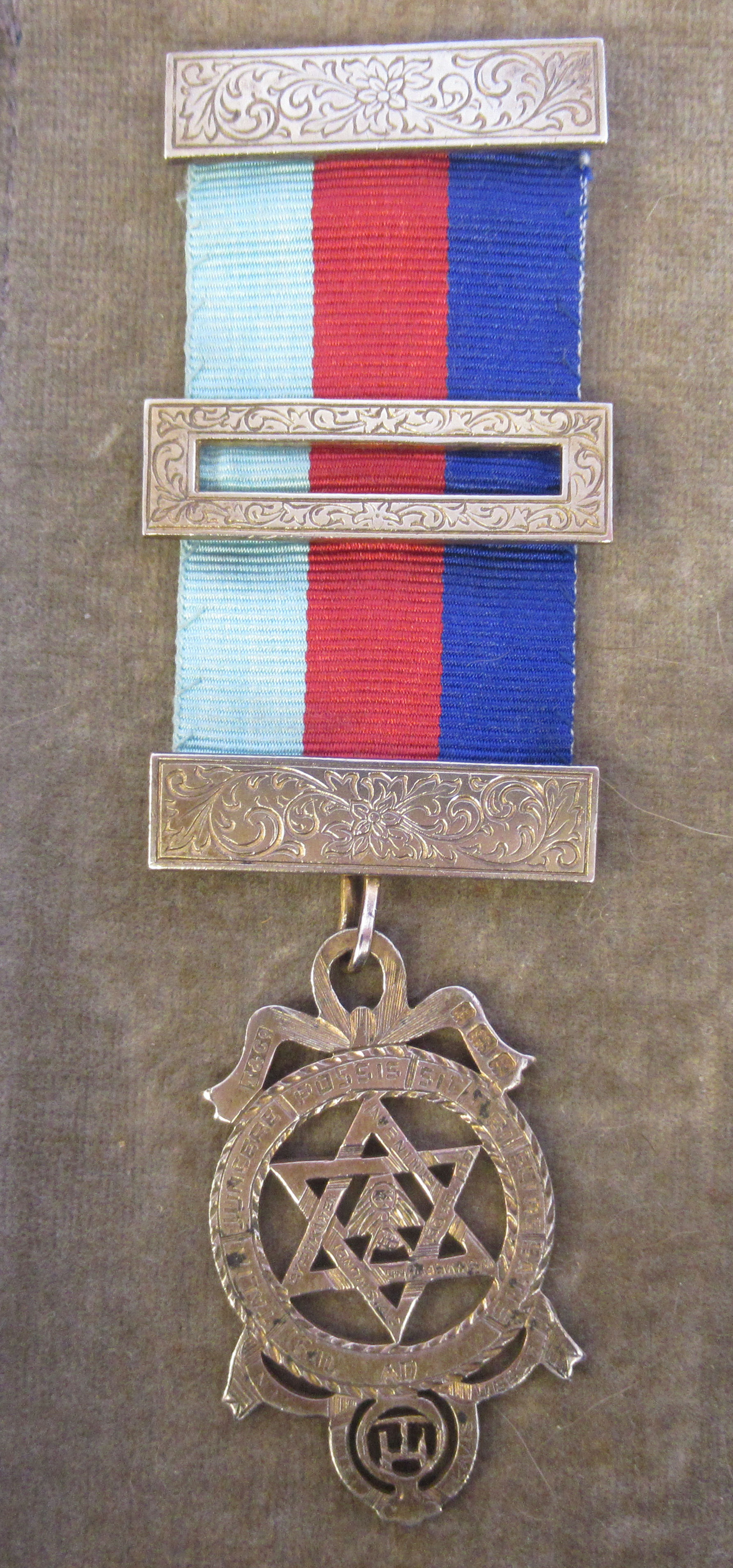 Three silver and coloured enamel Masonic medals, on ribbons mixed marks cased - Image 8 of 9