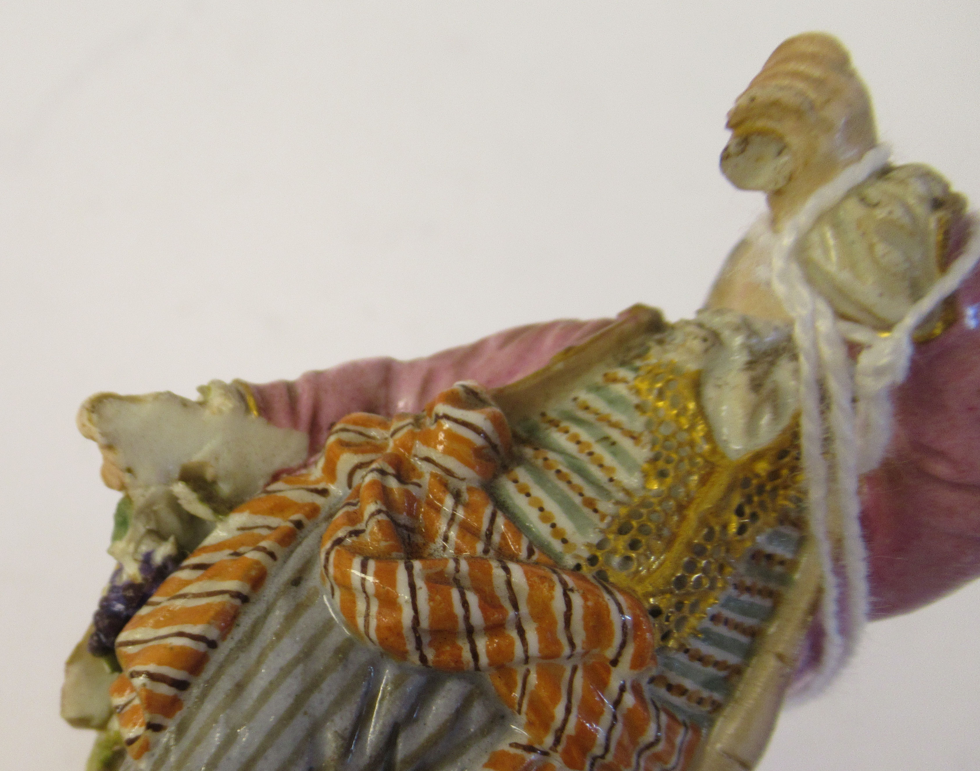 """A 19th/20thC Meissen porcelain figure, a boy dressed as a pirate, on a square plinth 4""""h - Image 5 of 9"""