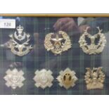 Fifteen Scottish military regimental cap badges, some copies: to include Kings Own Scottish