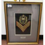 British military braided uniform insignia, viz. Colour Sergeant Royal Marines(Please Note: this