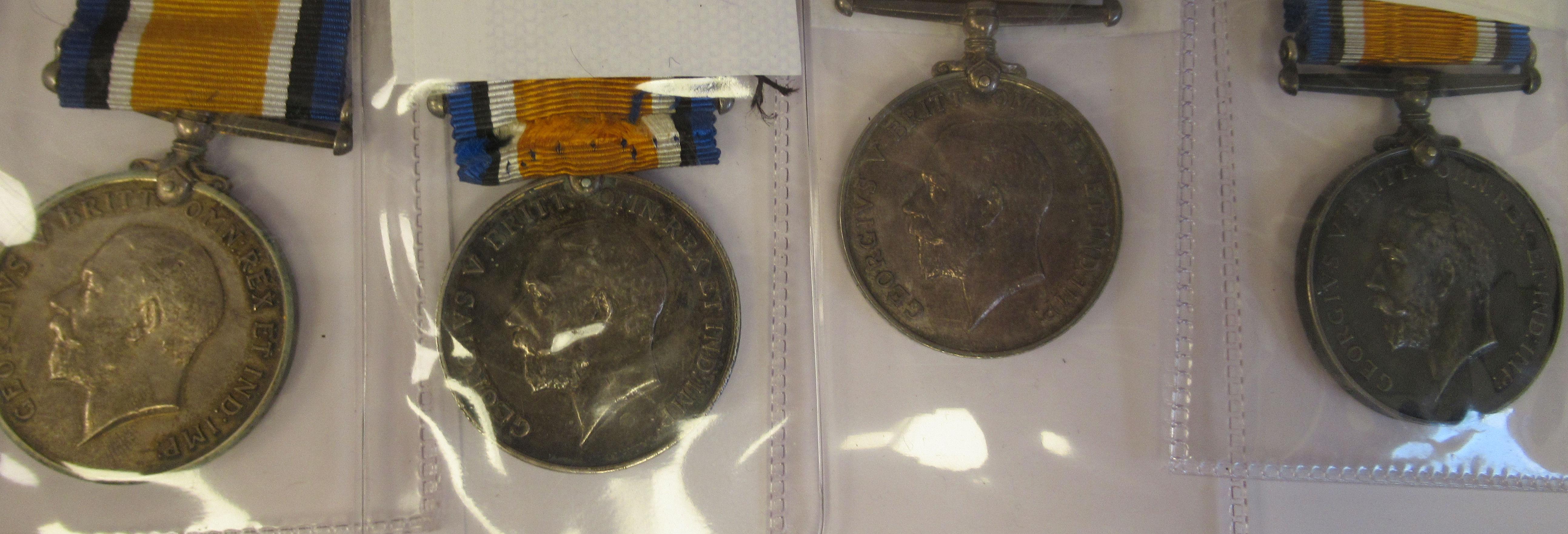 Twenty-four Great War 1914-1918 British service medals on ribbons, viz. 46481, Gnr. E. Williamson - Image 16 of 16
