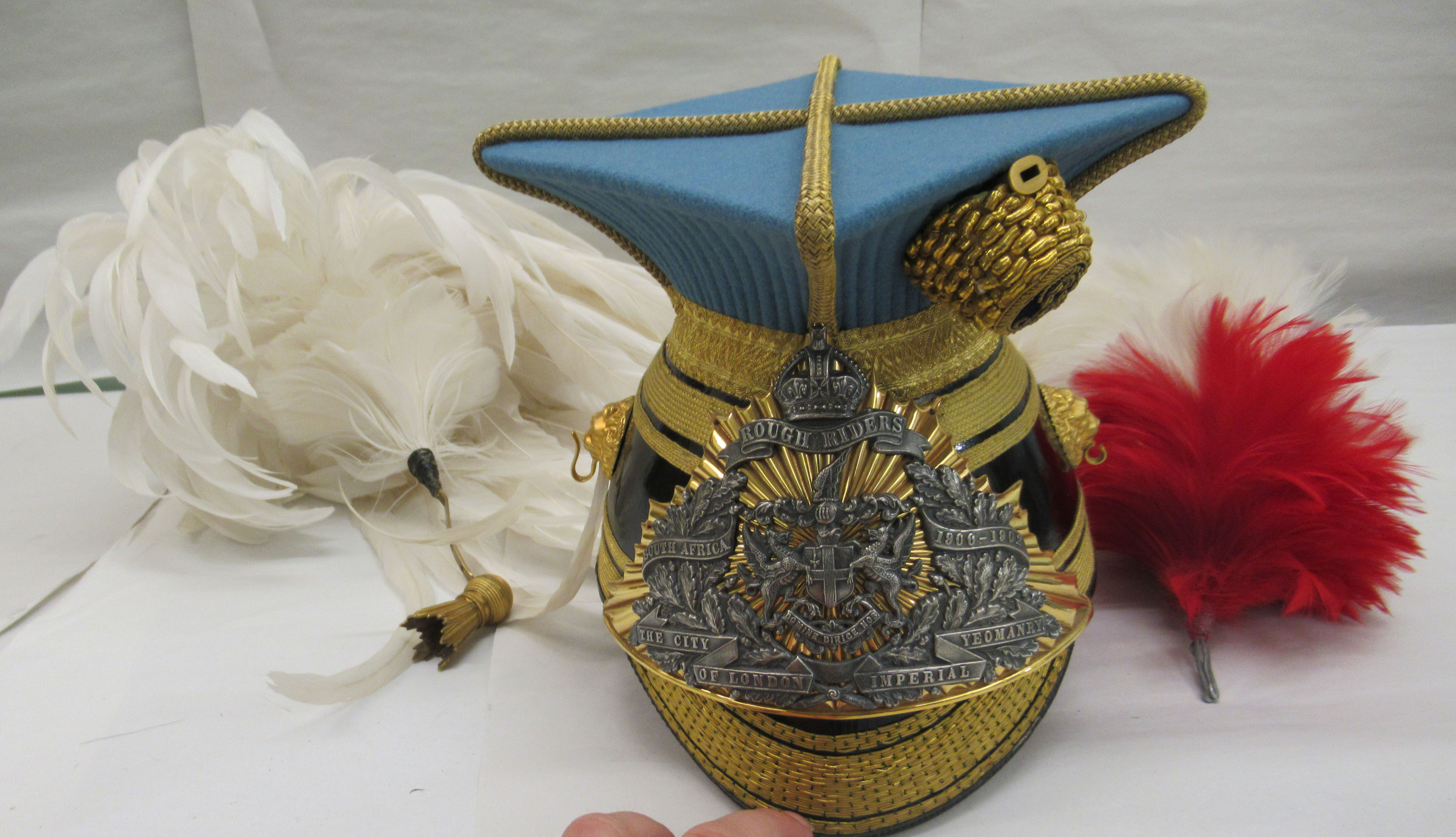 A City of London officer's lance czapka and plume(Please Note: this lot is offered subject to