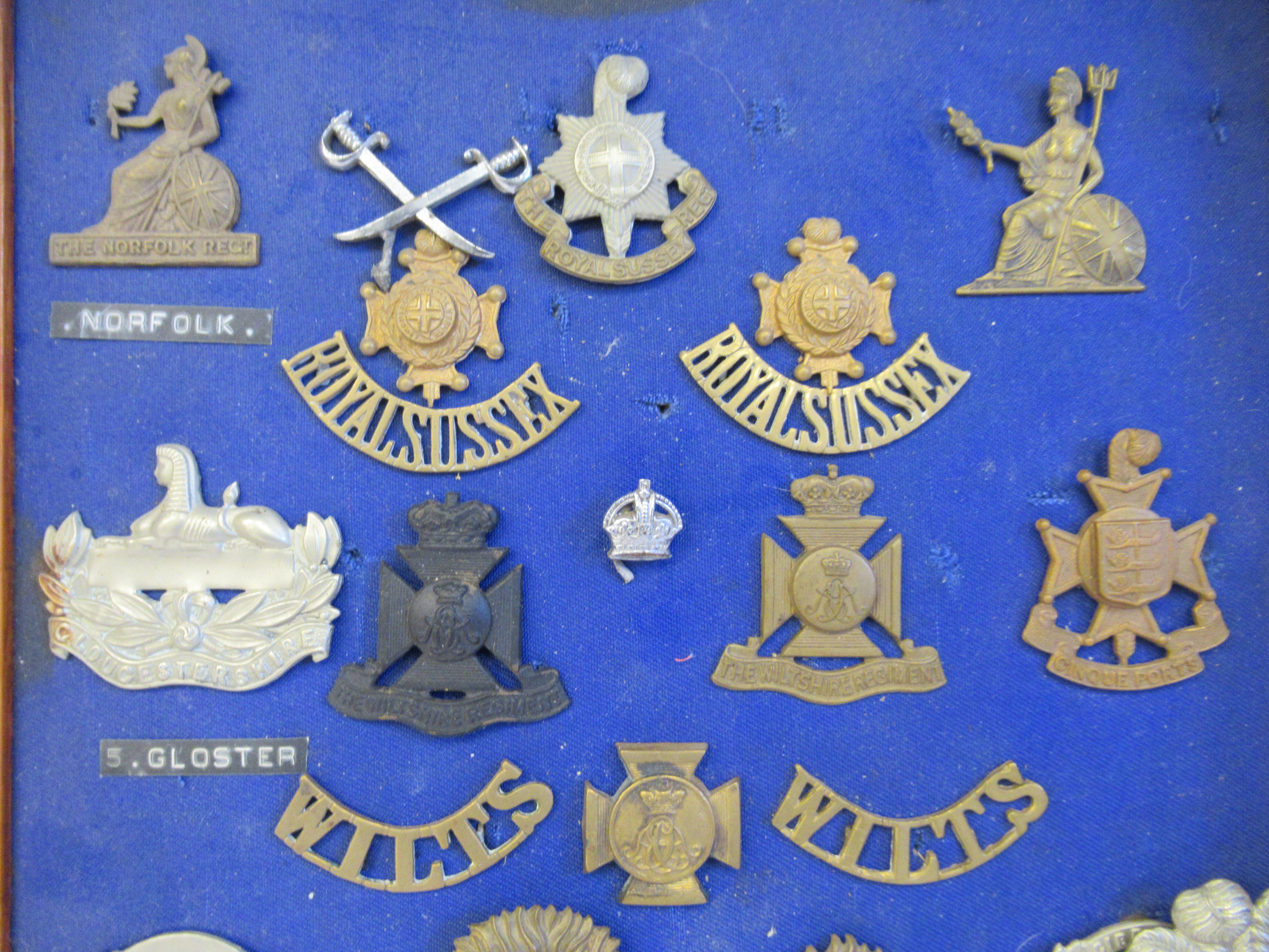 Approx. fifty military cap badges and other insignia, some copies: to include The Lancashire - Image 5 of 6