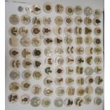 Approx. sixty-five military cap badges and other insignia, some copies: to include Royal