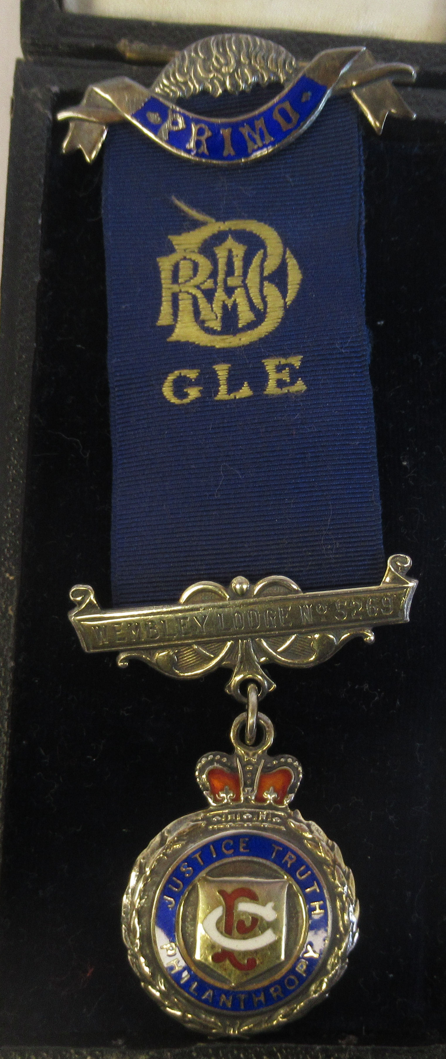 Three silver and coloured enamel Masonic medals, on ribbons mixed marks cased - Image 2 of 9
