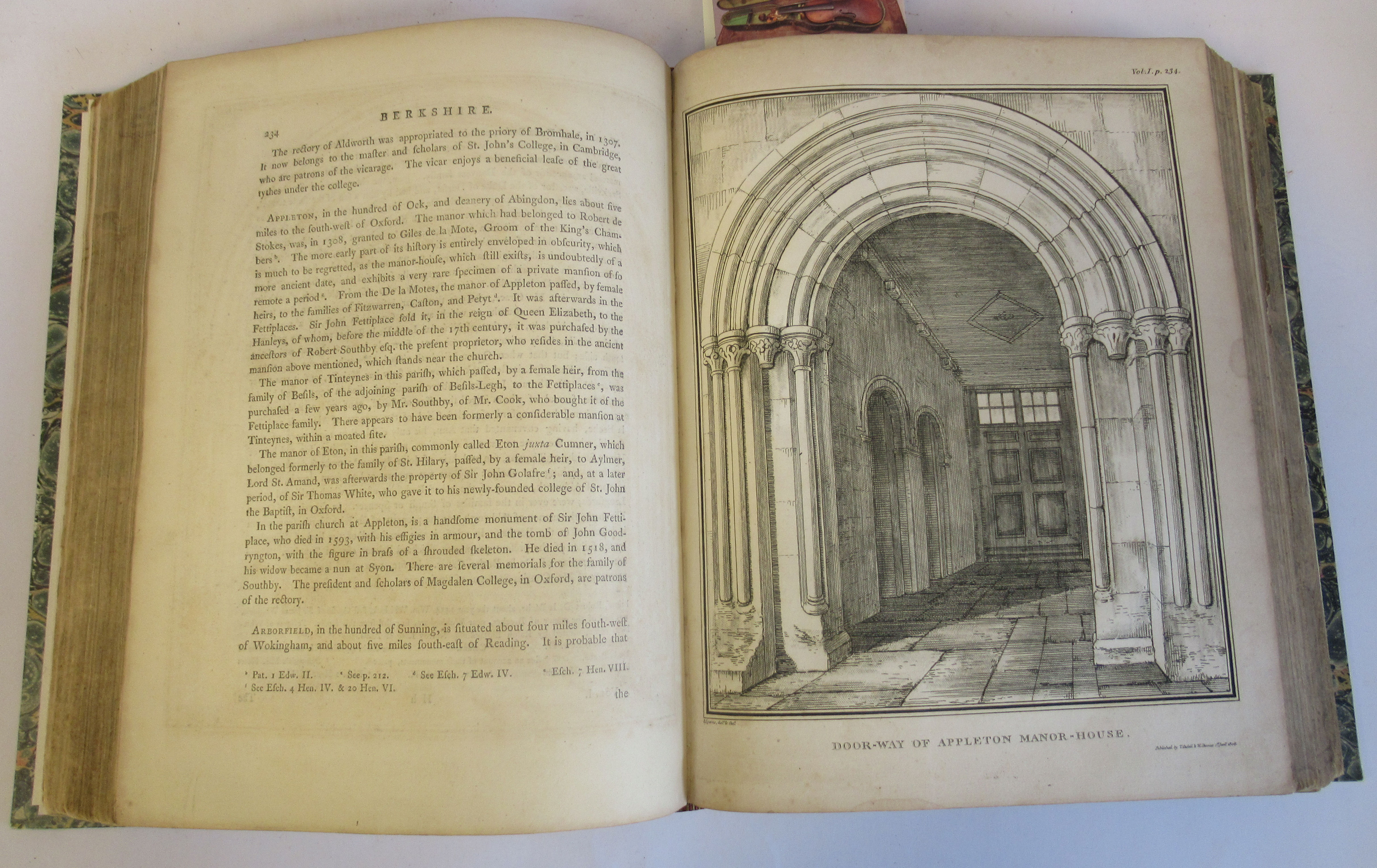 Book: 'Magna Britannia' (first volume) 'Bedfordshire & Buckinghamshire' by Danial Lysons, 44 plates, - Image 5 of 9