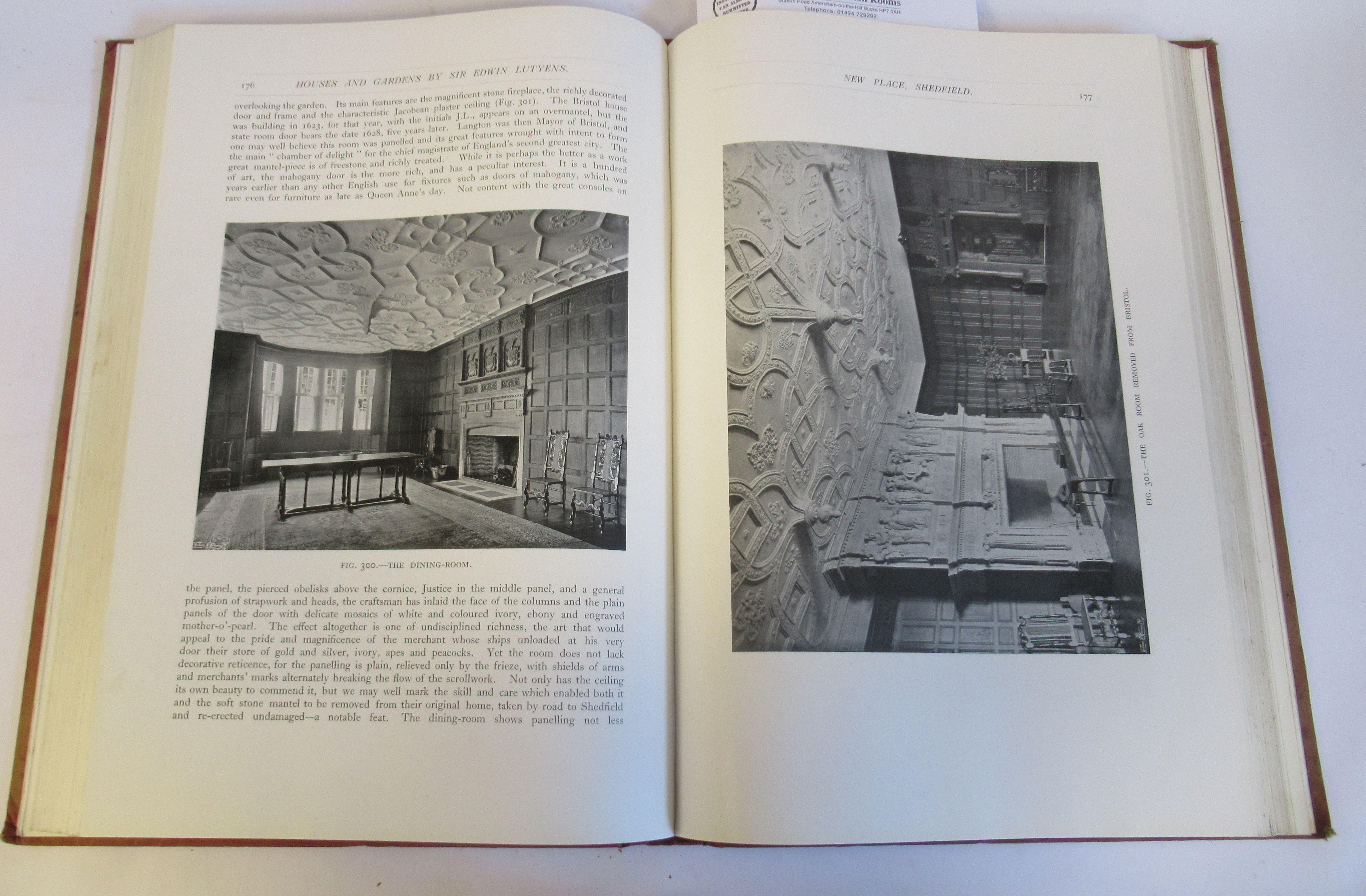 Book: 'Houses and Gardens' by Edwin Lutyens RA with numerous photographic illustrations published by - Image 5 of 7