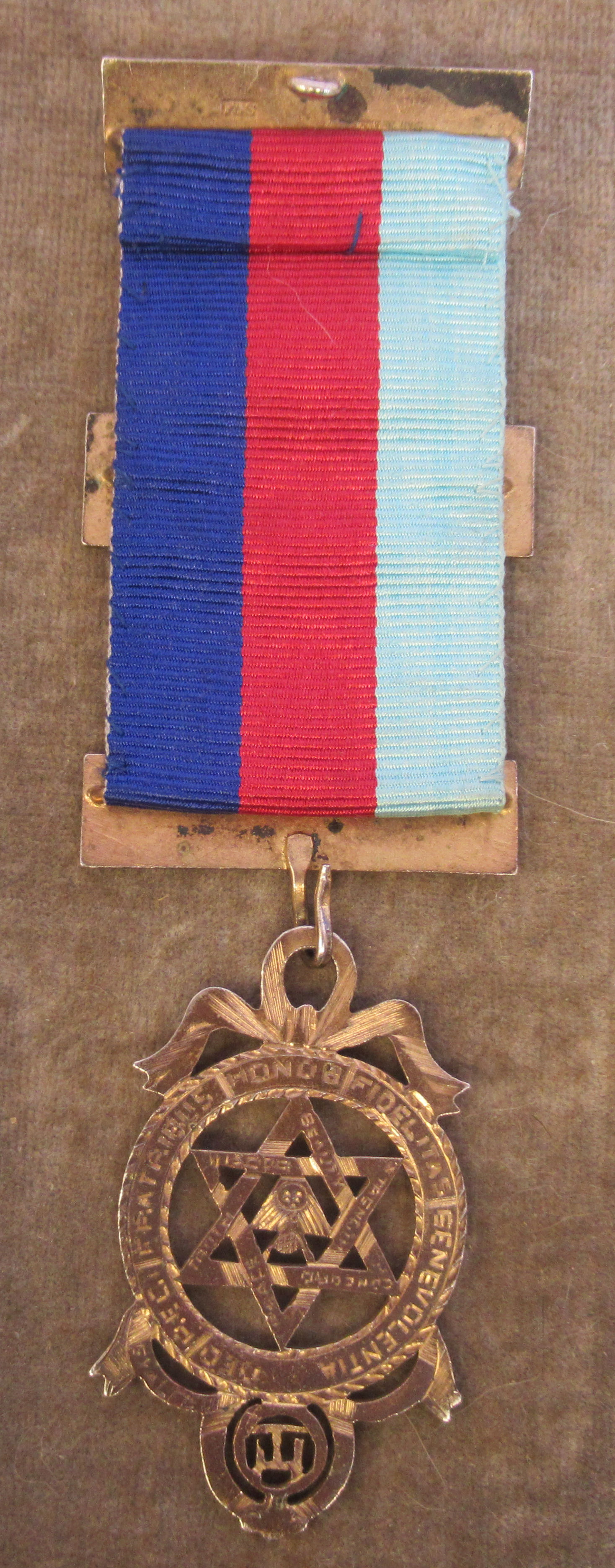 Three silver and coloured enamel Masonic medals, on ribbons mixed marks cased - Image 9 of 9