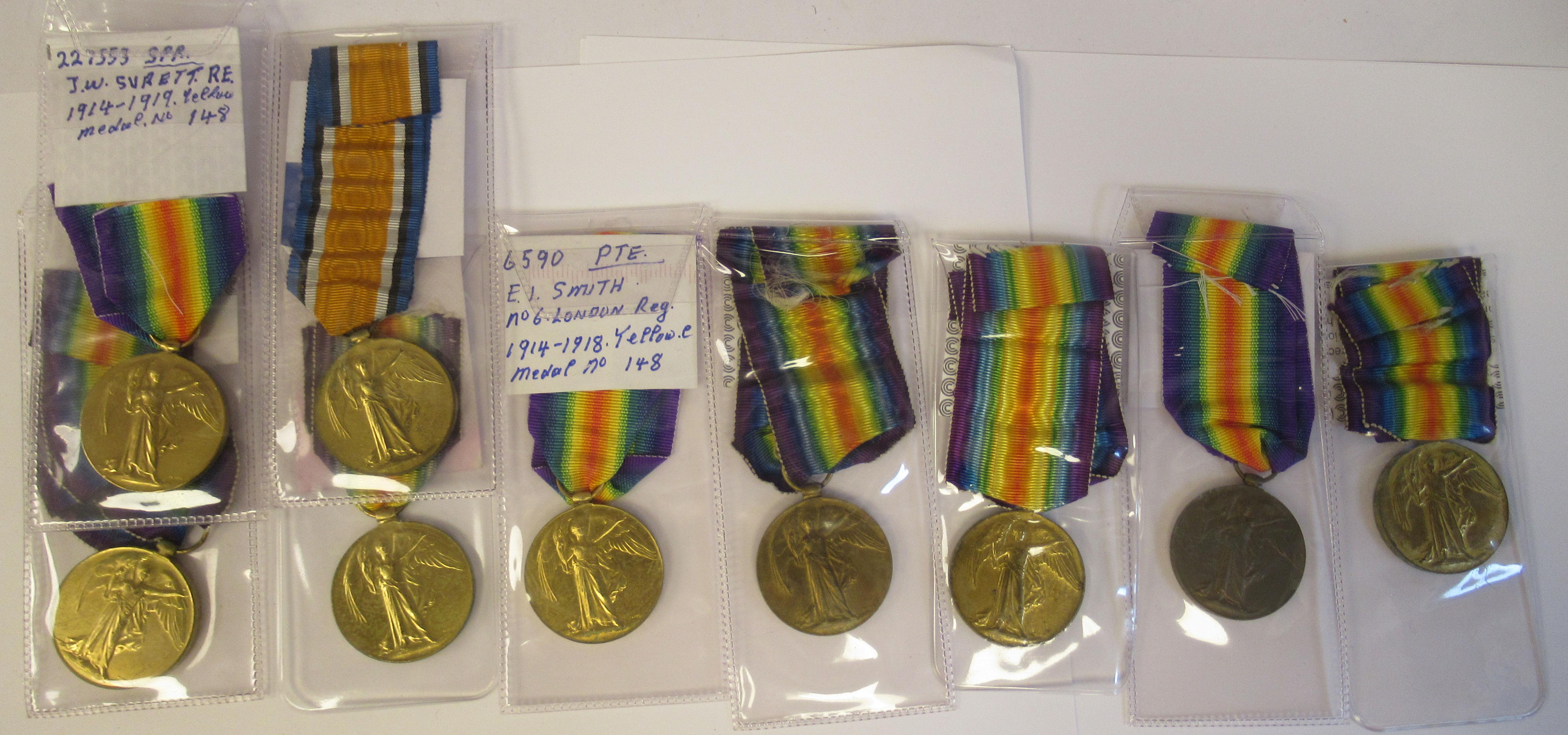 Twenty-four Great War 1914-1918 British service medals on ribbons, viz. 46481, Gnr. E. Williamson - Image 8 of 16