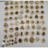 Approx. sixty-five military cap badges and other insignia, some copies: to include King's Own