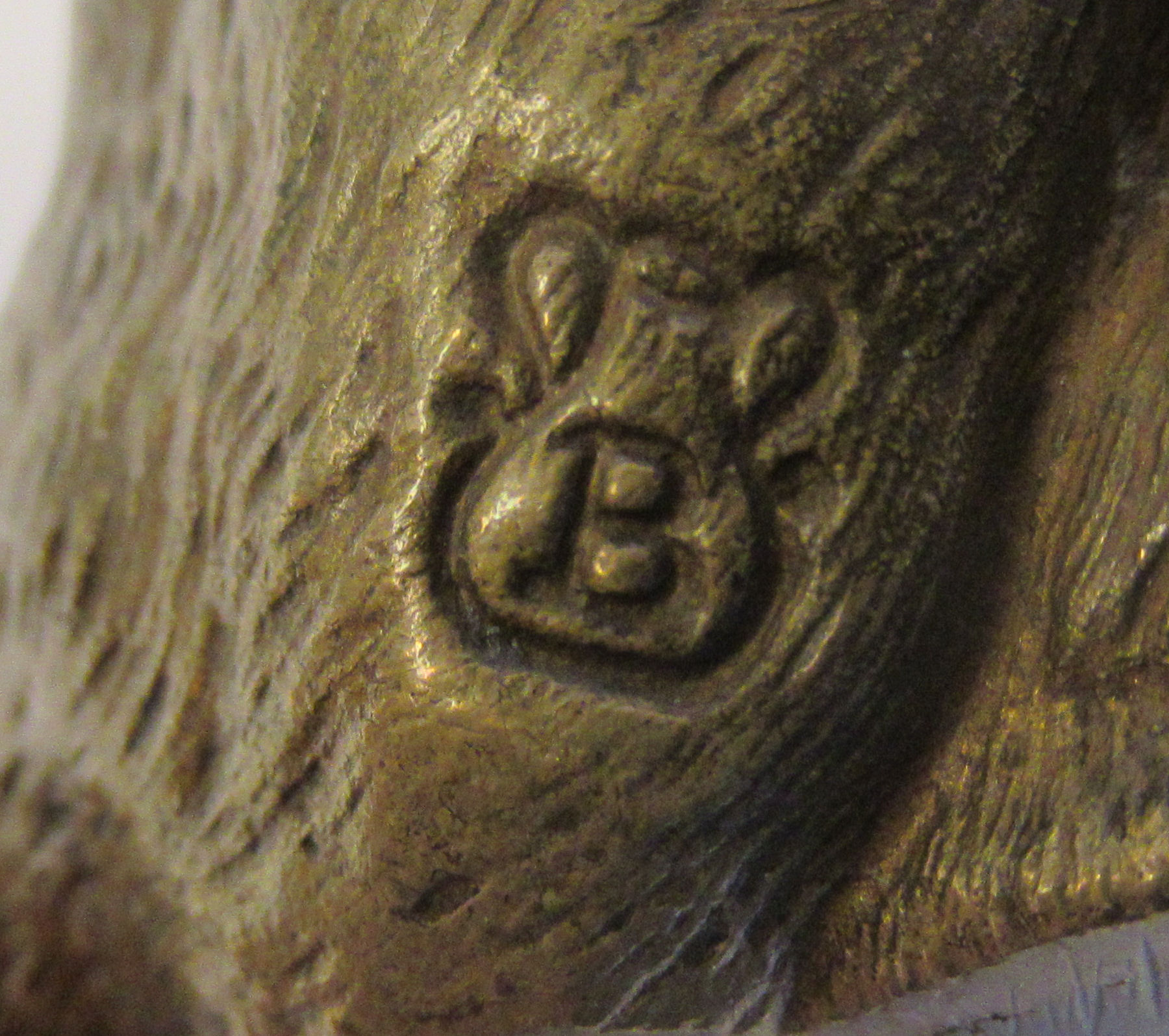 An Austrian cold cast bronze model, a seated, snarling big cat bears traces of paint & an - Image 8 of 8