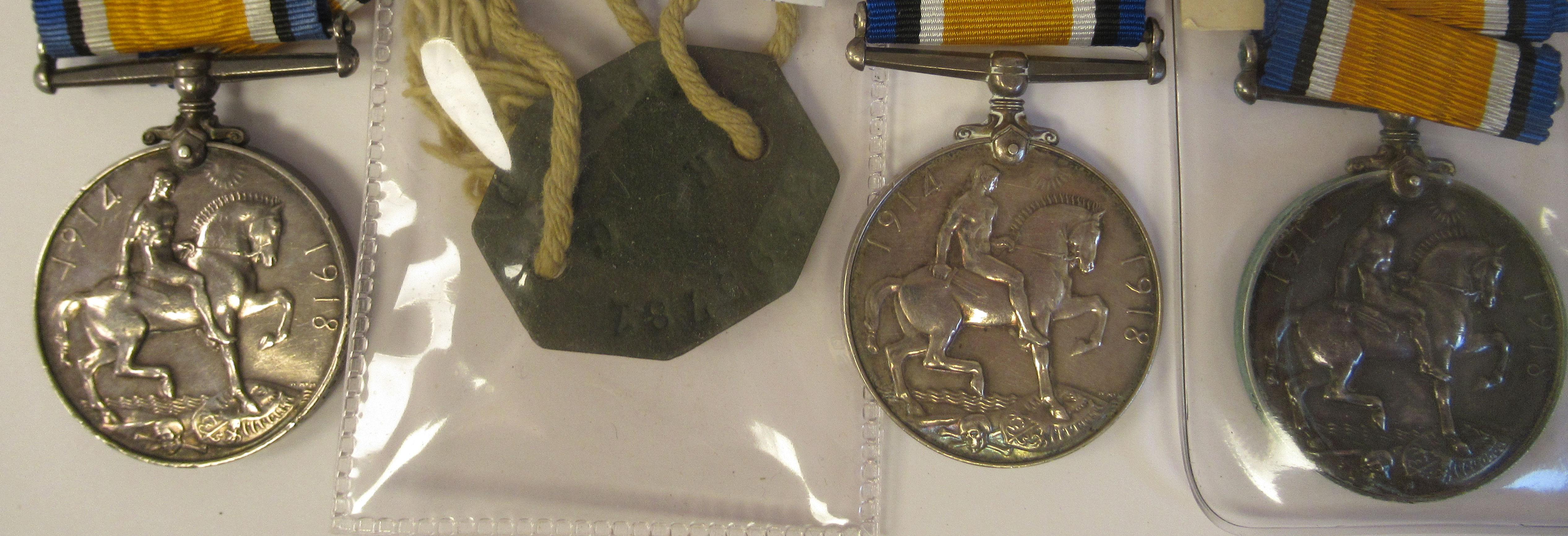 Twenty-four Great War 1914-1918 British service medals on ribbons, viz. 46481, Gnr. E. Williamson - Image 12 of 16