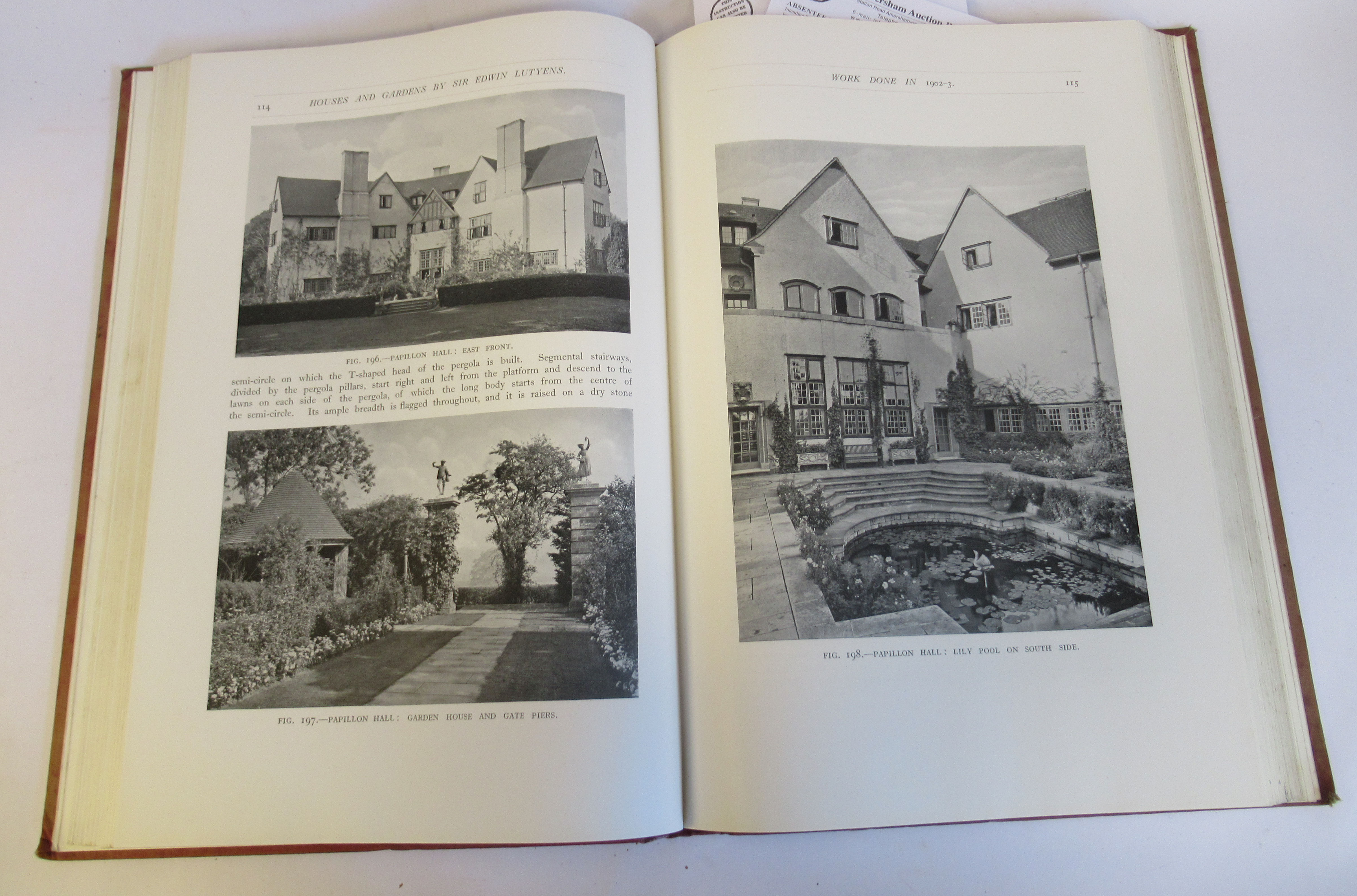 Book: 'Houses and Gardens' by Edwin Lutyens RA with numerous photographic illustrations published by - Image 4 of 7
